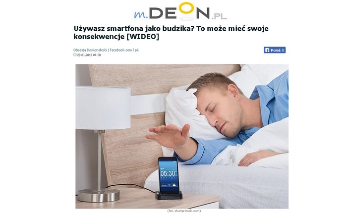 Używasz smartfona jako budzika? To może mieć swoje konsekwencje